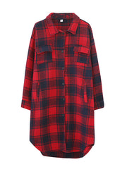You Don't Know Me Tartan Print Cotton Shirt