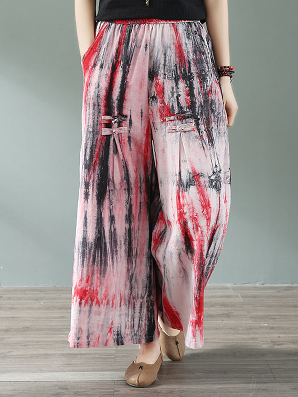 Dye Me Nice Cotton & Linen Wide Leg Pant