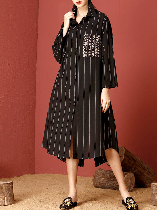 Tracie Vertical Stripes Maxi Dress with Contrasting Pocket