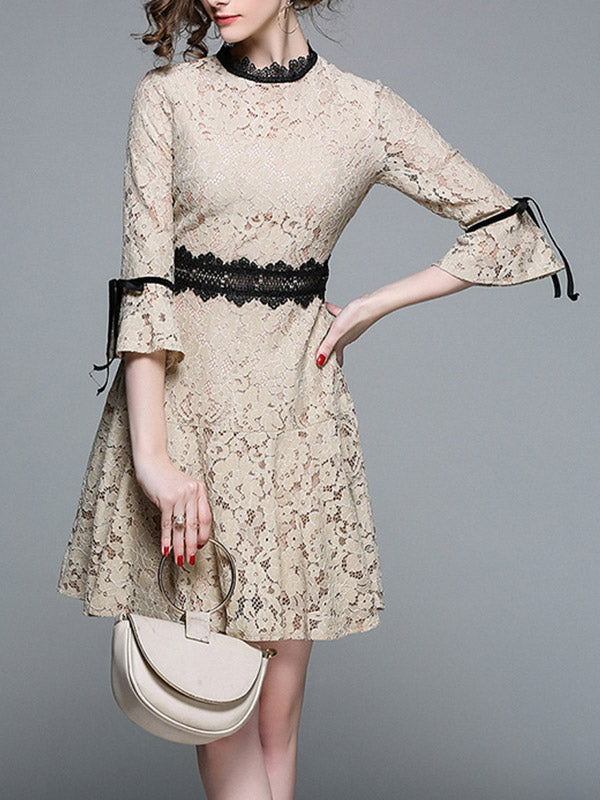 Maura Lace A-line Dress