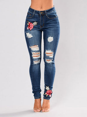 Ripped Patches Jeans