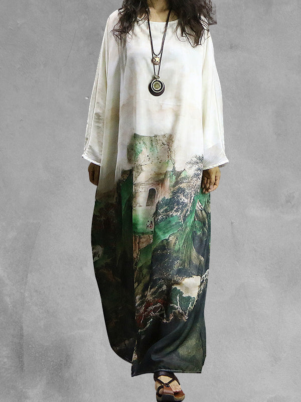 Enchanted Folkloric Kaftan Dress