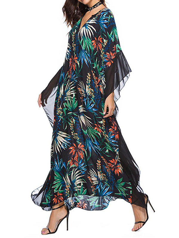 Kew Palm Kaftan Dress