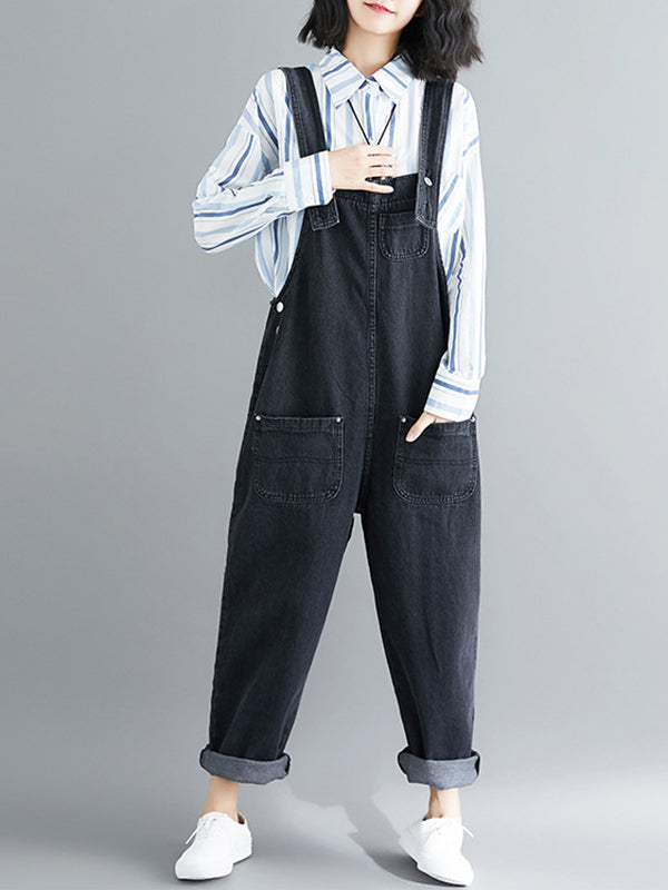 Black Boost Overall Dungarees