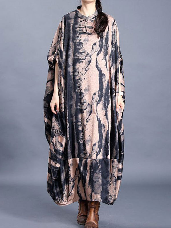 Lover Detail Silk Kaftan Dress