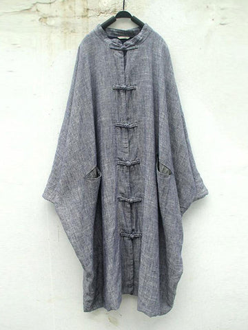 Grey Pankou Button Coat