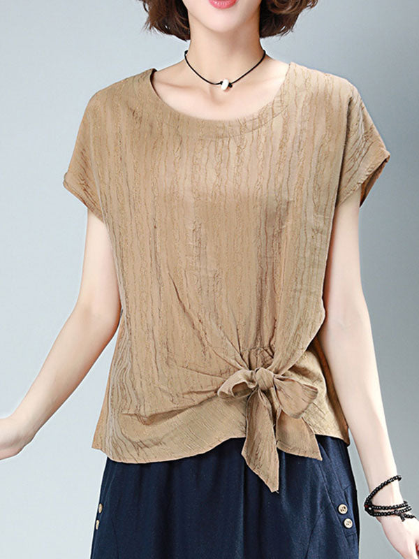 Knot Or Not Cotton Tunic T-Shirt Top