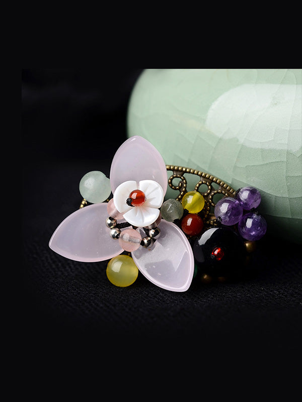 Bloomed Flower Brooch