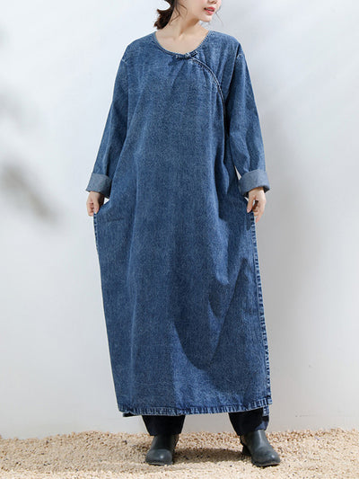 Skye Alt Buttonhole Loop Ethnic Shift Dress
