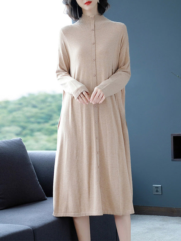 Quite Charming A-Line Sweater Dress
