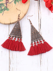 Filigree Fun Tassel Dangle Earrings