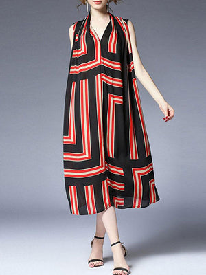 Heavy Stripe Midi Dress