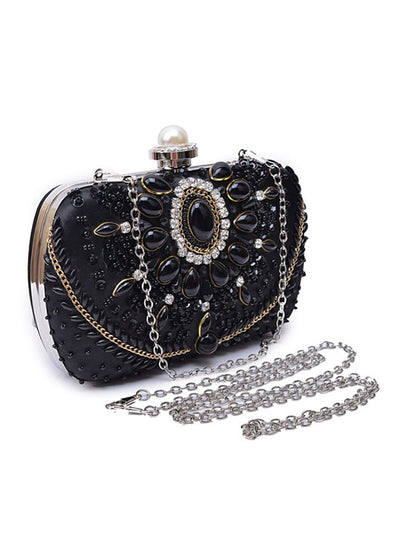 Luxury Hand-Studded Clutch