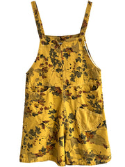 Light Of My Life Leaves Print Romper Overall Dungaree