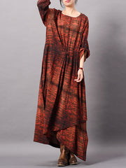 Christa Irregular Stripes Maxi Dress with Pockets