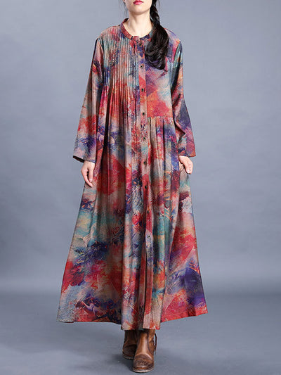 Next Chapter Floral Silk & Linen A-Line Dress