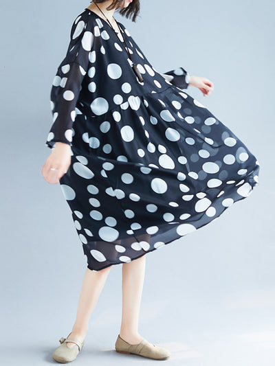 Magic Polka Midi Dress