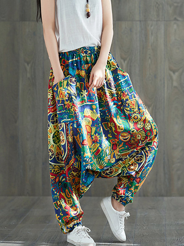 Color Castle Harem Pants