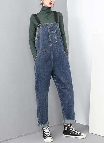 Ashlee Woven Denim Cotton Overall Dungarees