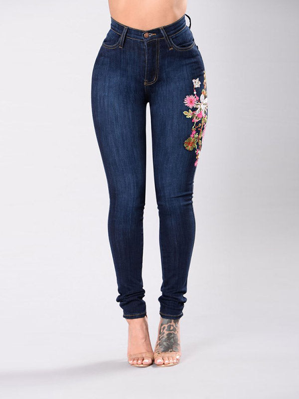 Fashion Embroidered Jeans