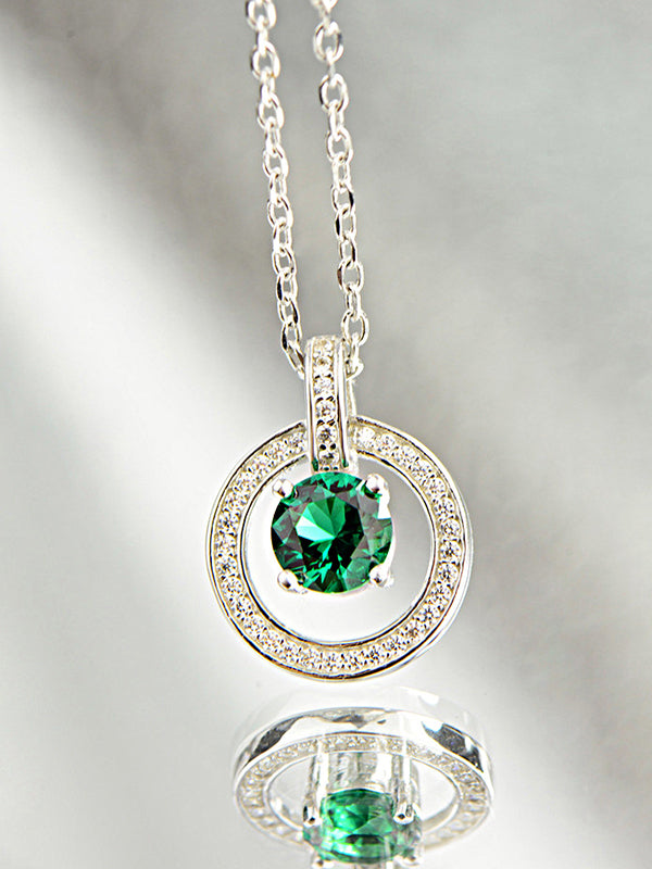 Allison Silver Jade Pendant with Hollows