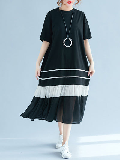 Norah Shaded Pleated A-Line Dress