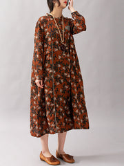 Consuelo Floral Print Baggy Midi Dress