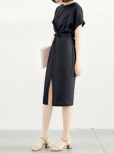 Comfortable Collab Pencil Midi Dress