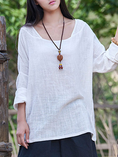 Bamboo Cotton Scoop Neck Top