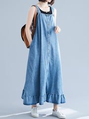 Match Made Overall A-Line Dress