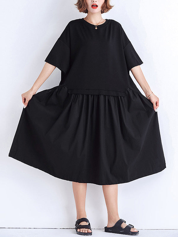 Liliana Solid Joint A-Line Dress