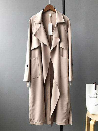 Along for the Ride Crepe Trench Coat