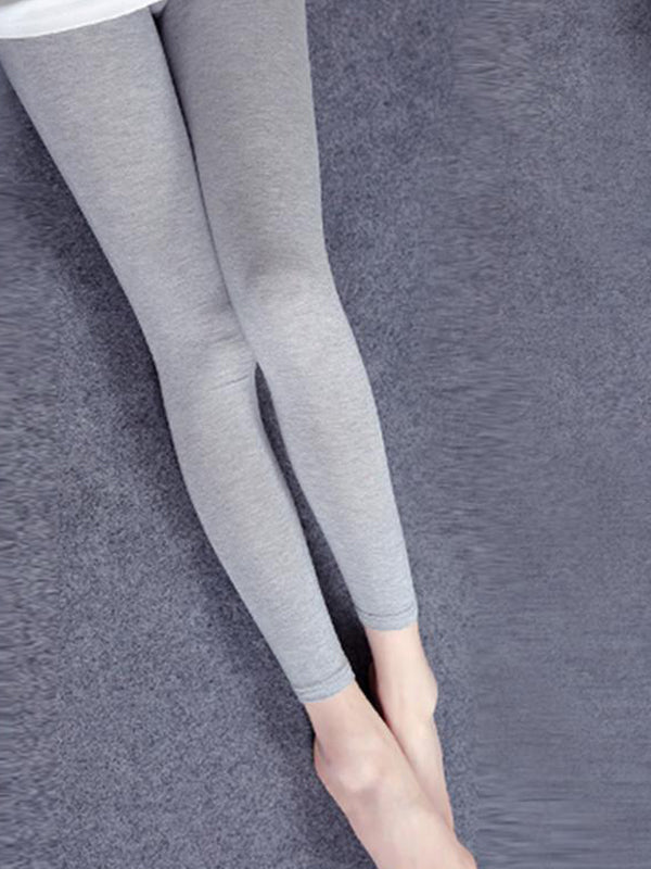 Elastic Waist Inner Cotton Pants