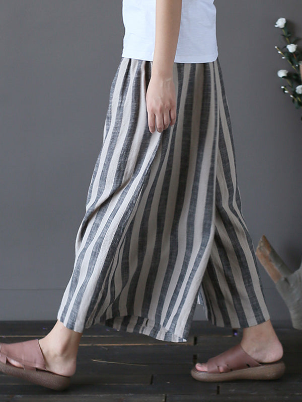 Ribbon Stripe Wide Leg Pants