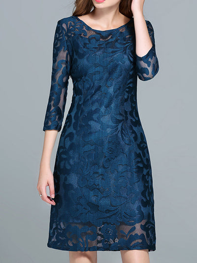 Splicing Lace Dress
