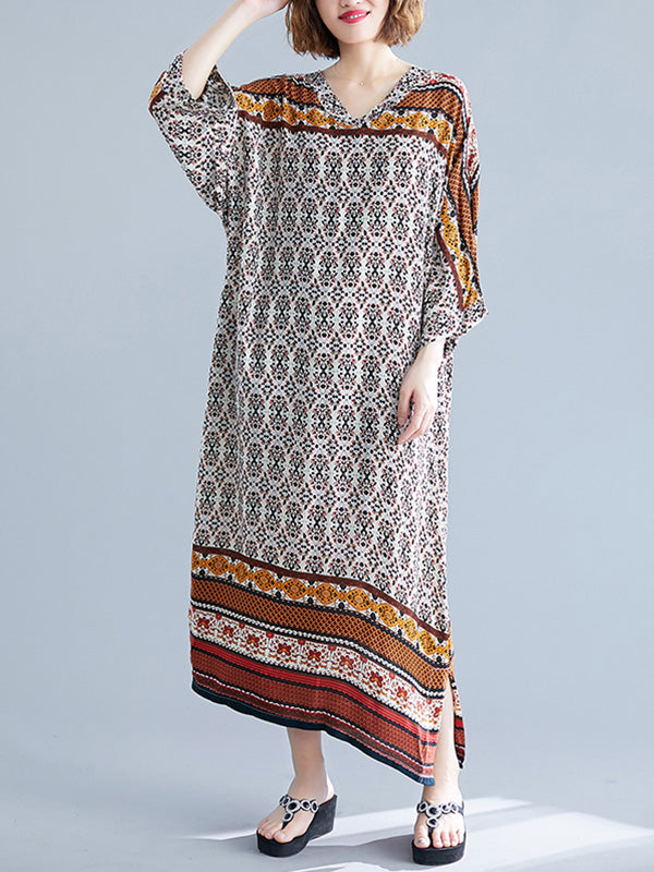 Savannah Geometric Maxi Dress