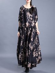 The Time is Changed Floral Print Maxi Dress