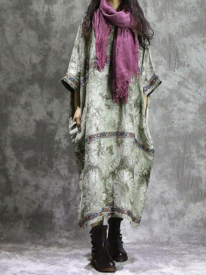 Tie Dye Lace Applique Shift Dress