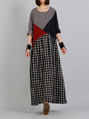 Styled Duo Colorblock A-Line Dress