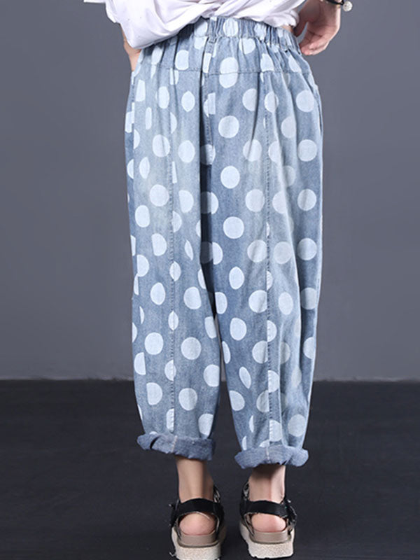 Often Adored Polka Dot Cotton Pants
