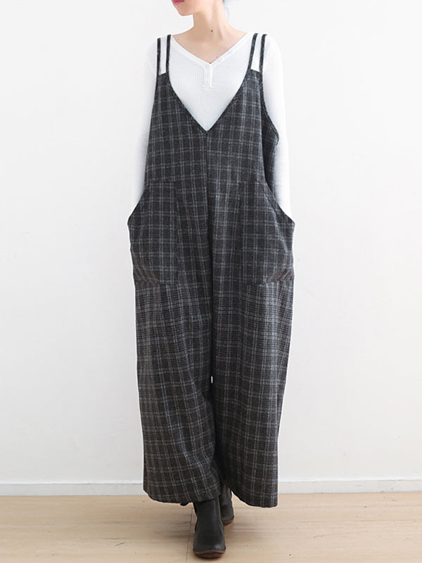 Cultured and Capable Plaid Jumpsuit