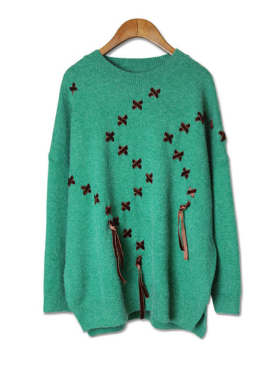 Daily Luxe Green Sweater Top