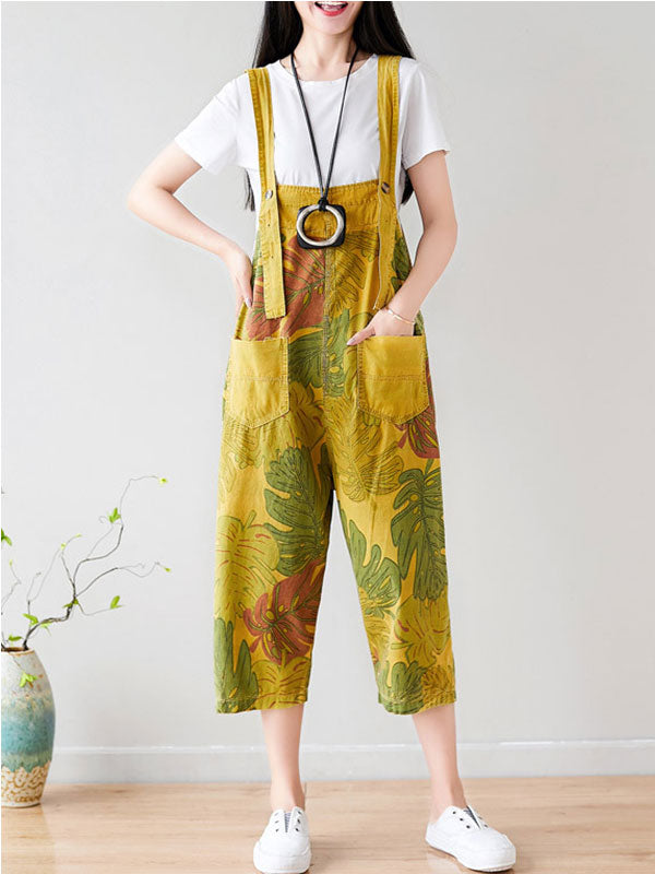 Tropical Jungle Overall Dungarees