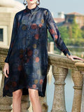 Ombre Sphere Shirt Dress