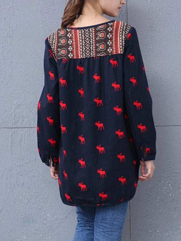 Reindeer Tunic Top