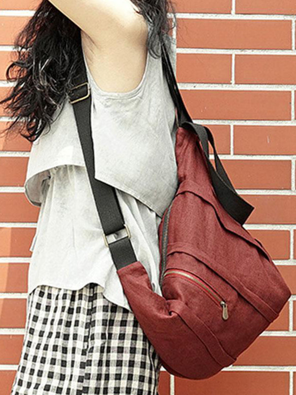 Maroon Convertible Backpack Cum Handbag
