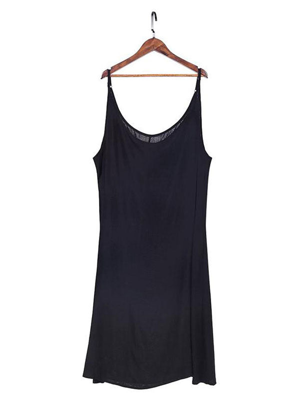 Black Strap Slip Dress