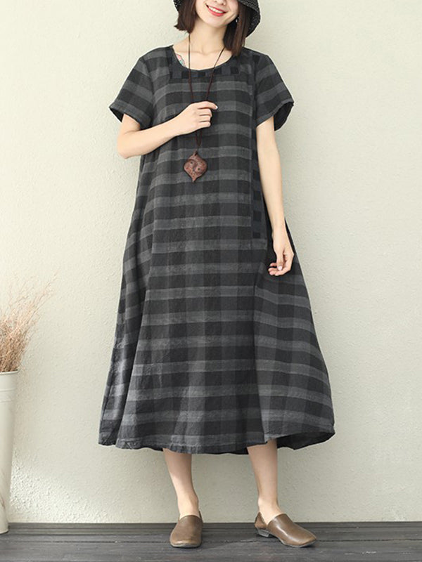 Come Check With Me Linen A-Line Dress