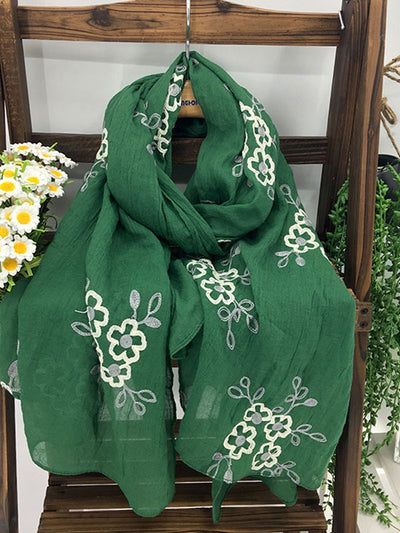 Gardener's Dream Embroidery Scarf