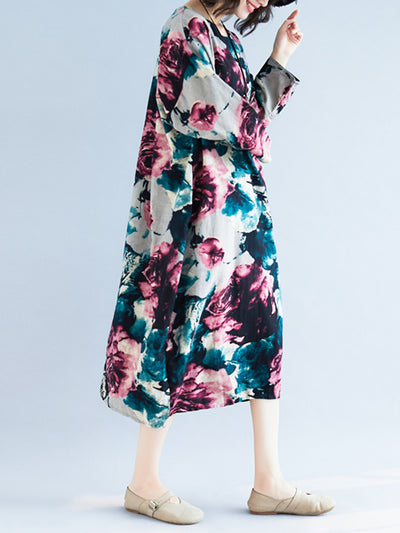 Floral Overloaded Midi Dress